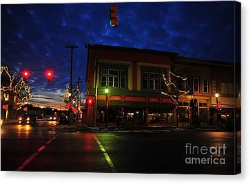 Clare Michigan At Christmas 14 Canvas Print by Terri Gostola