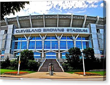Cleveland Browns Stadium Canvas Print by Frozen in Time Fine Art Photography