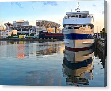 Cleveland Harbor Canvas Print by Frozen in Time Fine Art Photography