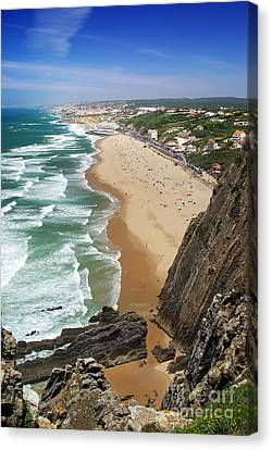 Coastal Cliffs Canvas Print by Carlos Caetano