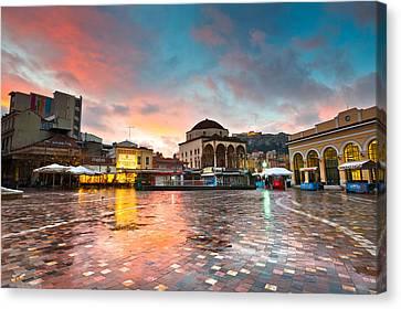 Cobblestone Square Canvas Print by Milan Gonda