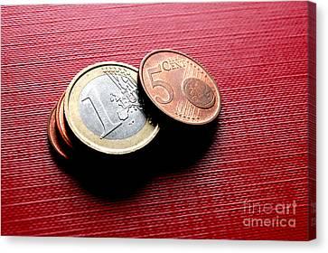 Coins Euro Canvas Print by Michal Bednarek