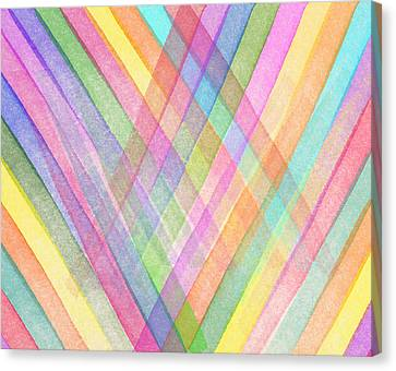 Colorful Stripes Canvas Print by Aged Pixel