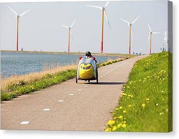 Colourful Wind Turbines Canvas Print by Ashley Cooper