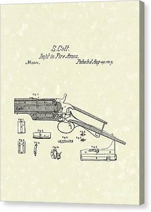 Colt Firearm 1839 Patent Art Canvas Print by Prior Art Design