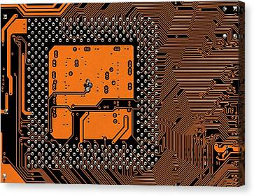 Computer Motherboard Canvas Print by Antonio Romero