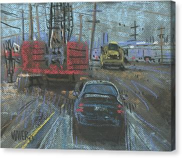 Construction Site Canvas Print by Donald Maier
