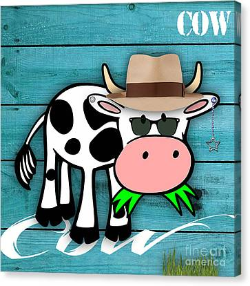 Cool Cow Collection Canvas Print by Marvin Blaine