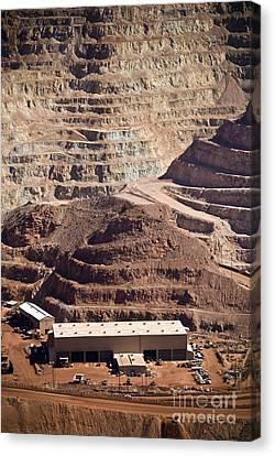 Copper Mine Buildings, Arizona, Usa Canvas Print by Arno Massee