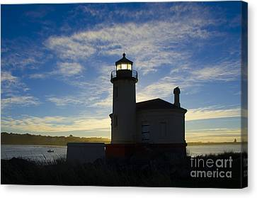 Ghost Light Coquille River Lighthouse Oregon 2 Canvas Print by Bob Christopher