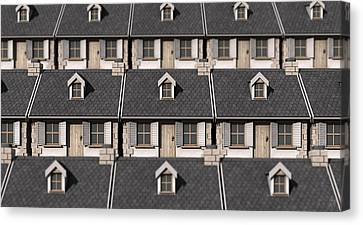 Cottage Neighbour Collage Canvas Print by Allan Swart