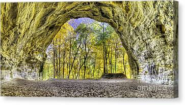 Council Overhang At Starved Rock Canvas Print by Twenty Two North Photography