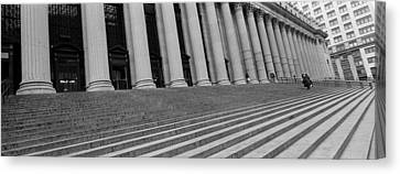 Courthouse Steps, Nyc, New York City Canvas Print by Panoramic Images