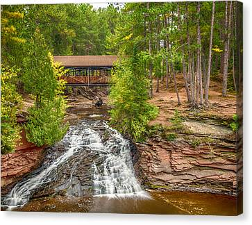 Covered Bridge Canvas Print by Paul Freidlund