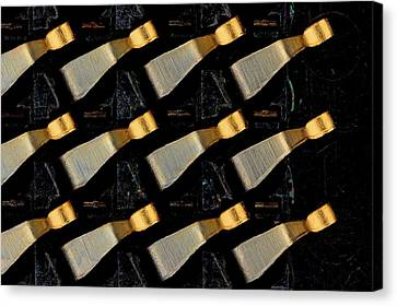 Cpu Socket Pins Canvas Print by Antonio Romero