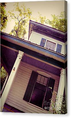 Creepy Old House Canvas Print by Jill Battaglia