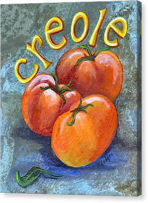 Creole Tomatoes Canvas Print by Elaine Hodges