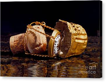 Cristal Cork Granite Digital Paint Canvas Print by Jon Neidert