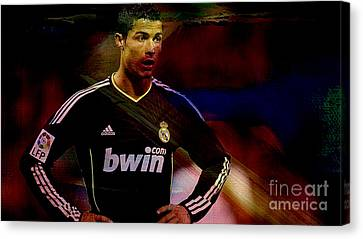 Cristiano Ronaldo Canvas Print by Marvin Blaine