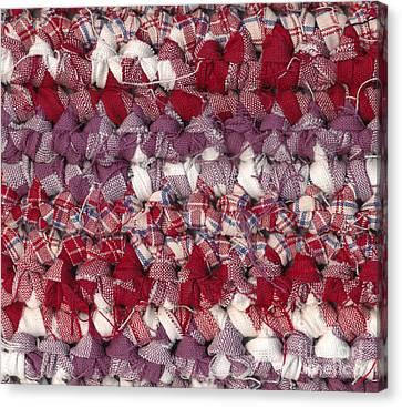 Crochet Rag Rug Canvas Print by Kerstin Ivarsson