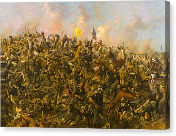 Custers Last Stand Canvas Print by Edgar S Paxson
