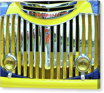 Custom Chevy Truck   Canvas Print by Allen Beatty