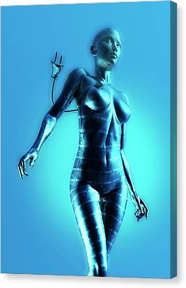 Cyborg Canvas Print by Victor Habbick Visions