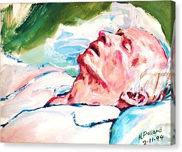 Dad Dying Canvas Print by Herschel Pollard