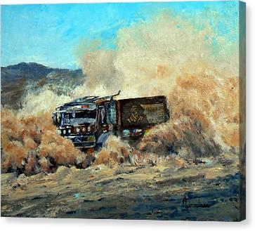 Rally Dakar Giant Canvas Print by Silvana Miroslava Albano