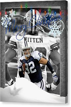 Dallas Cowboys Christmas Card Canvas Print by Joe Hamilton