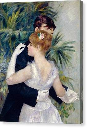 Dance In The City Canvas Print by Pierre-Auguste Renoir