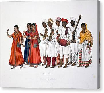 Dancing-girls And Musicians Canvas Print by British Library