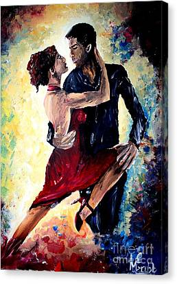 Dancing In The Moonlight Canvas Print by Michael Grubb