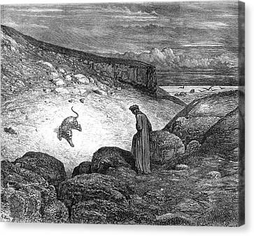 Dante's Inferno Canvas Print by Granger