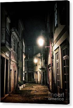 Dark Street Canvas Print by Carlos Caetano