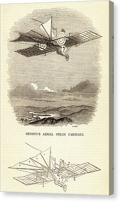 Design For The Aerial Steam Carriage Canvas Print by Universal History Archive/uig