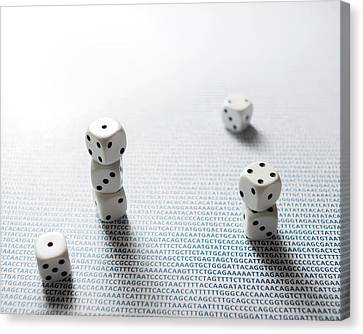 Dice And Dna Canvas Print by Robert Brook