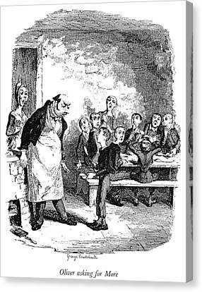 Dickens Oliver Twist Canvas Print by Granger