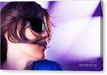 Disco Girl Canvas Print by Michal Bednarek