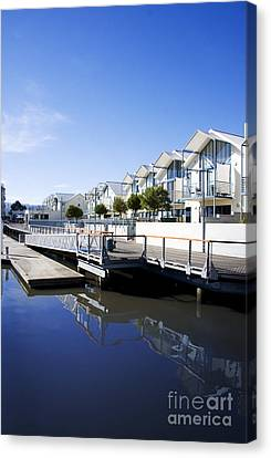 Dockside Apartments Canvas Print by Jorgo Photography - Wall Art Gallery