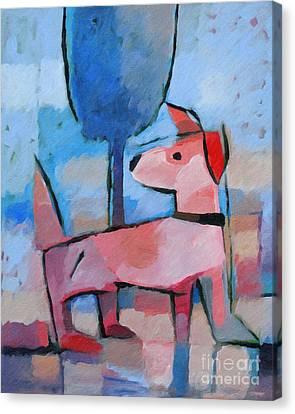 Doggy Canvas Print by Lutz Baar