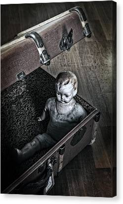 Doll In Suitcase Canvas Print by Joana Kruse