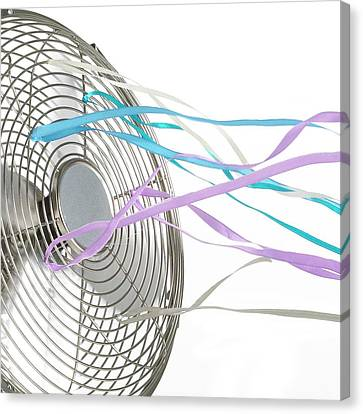 Domestic Fan Showing Air Movement Canvas Print by Science Photo Library