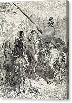 Dore, Paul Gustave 1832-1883. Don Canvas Print by Everett
