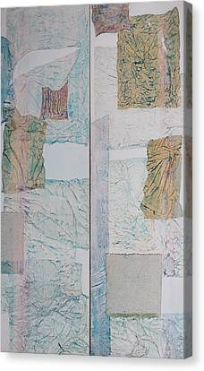 Double Doors Of Unfinished Projects In Blue  Canvas Print by Asha Carolyn Young