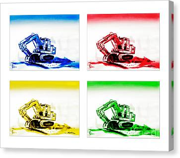 Dozer Mania Canvas Print by Kip DeVore