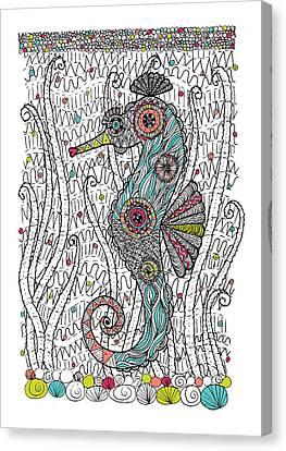Dream Seahorse Canvas Print by Susan Claire
