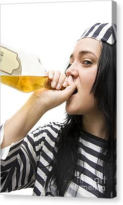 Drinking Detainee Canvas Print by Jorgo Photography - Wall Art Gallery