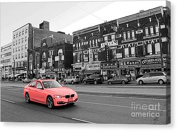 Driving Through Chinatown Canvas Print by Nina Silver