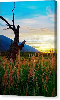 Eagle River Sunset Canvas Print by Kyle Lavey